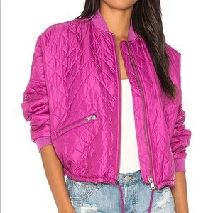 NWOT Free People Easy Quilted Bomber Jacket